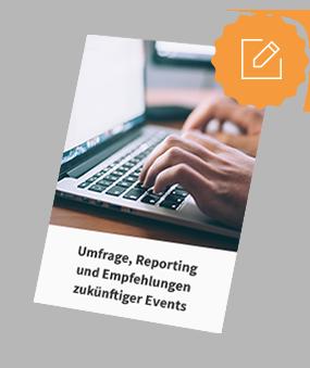 Umfrage, Reporting und Empfehlungen zukünftiger Events