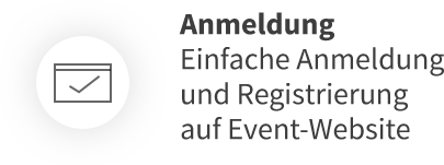 Anmeldung Einfache Anmeldung und Registrierung auf Event-Website